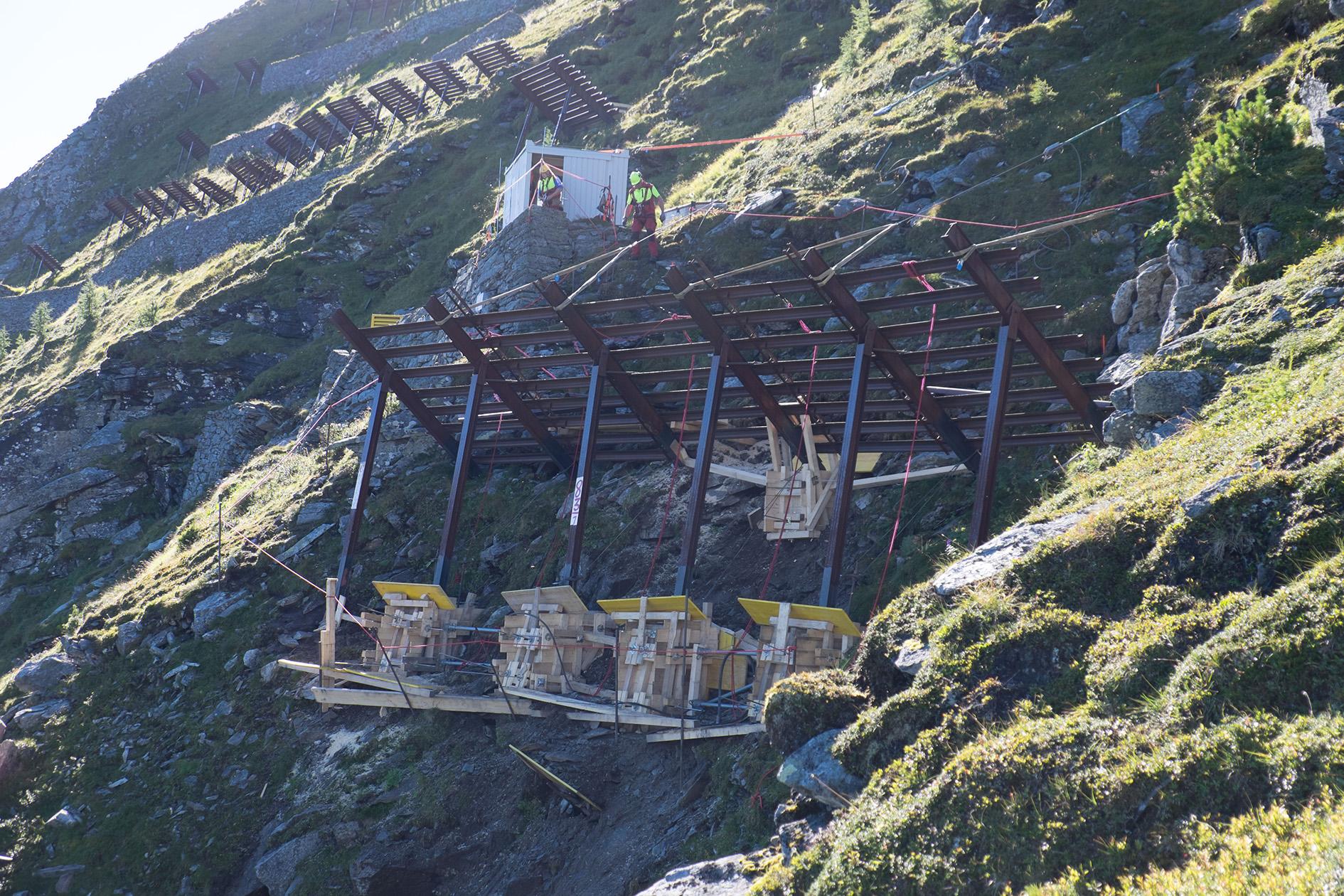 Sicherungsarbeiten für Westrampe der Arlbergbahn