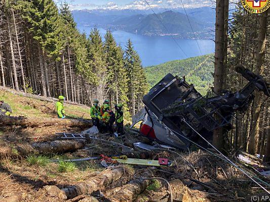 Italien Seilbahn-Unglück: Neun Menschen sterben im Piemont bei Stresa