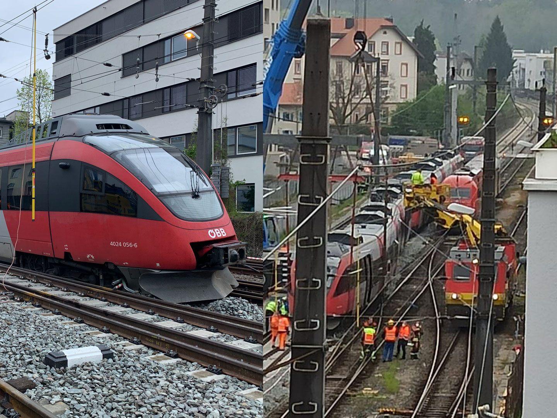 Vorarlberg: Zug in Bregenz entgleist