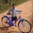 Ein stolzer Fehrradbesitzer. - Ein stolzer Fehrradbesitzer.