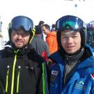 Die Alpinläufer Hans Waldner und Hansjörg Schneider. - Die Alpinläufer Hans Waldner und Hansjörg Schneider.