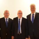 Reinhard Rüf, Herbert Wachter und Rainer Madlener beteiligten sich am Chorfenster. - Reinhard Rüf, Herbert Wachter und Rainer Madlener beteiligten sich am Chorfenster.