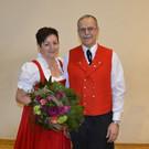 25 Jahre Fähnrich, Manfred Fetz mit Gattin Wilma - 25 Jahre Fähnrich, Manfred Fetz mit Gattin Wilma