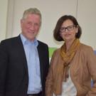 LR Erich Schwärzler und Direktorin Ingrid Singer im Gespräch. - LR Erich Schwärzler und Direktorin Ingrid Singer im Gespräch.