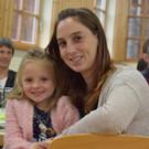 Conny Eberle und Tochter Leonie bei der Auftaktveranstaltung. - Conny Eberle und Tochter Leonie bei der Auftaktveranstaltung.