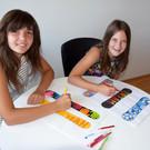 Die Mittelschüler haben sich selber Designs für ihre neuen Shortcarver ausgedacht. - Die Mittelschüler haben sich selber Designs für ihre neuen Shortcarver ausgedacht.