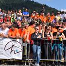 Hunderte Besucher feuerten die Wettkämpfer an. - Hunderte Besucher feuerten die Wettkämpfer an.