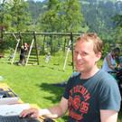 Mitorganistor Helmut Simma vom Wintersportverein. - Mitorganistor Helmut Simma vom Wintersportverein.