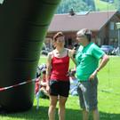 Kampfrichterin Marlies Feurstein und Moderator Martin Strolz. - Kampfrichterin Marlies Feurstein und Moderator Martin Strolz.