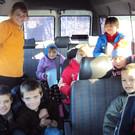 Ein Schulbus in Rascov  - Ein Schulbus in Rascov