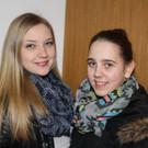 Ehemalige Schülerinnen: Julia Metzler und Laura Bereuter. - Ehemalige Schülerinnen: Julia Metzler und Laura Bereuter.